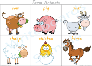 Farm Animal Busy Book Poster for TAS comes Free with our Busy Book Pack