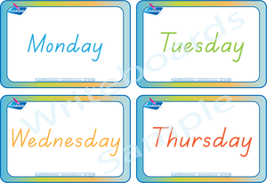 Days of the Week Busy Book Includes Free Flashcards in TAS Handwriting