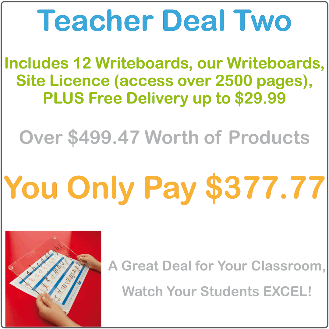Reusable writing board and worksheets for teachers package deal, Teachers Resources