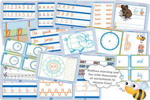 Worksheets for Teachers and Schools in QLD, NSW, NT, SA, TAS and VIC
