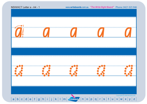 NSW Foundation Font Childcare lowercase alphabet tracing worksheets for school readiness, NSW and ACT Childcare Resources