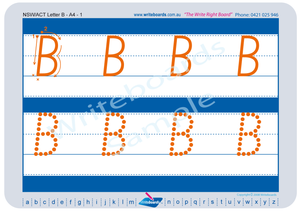 NSW Foundation Font Childcare uppercase alphabet tracing worksheets for school readiness, NSW and ACT Childcare Resources