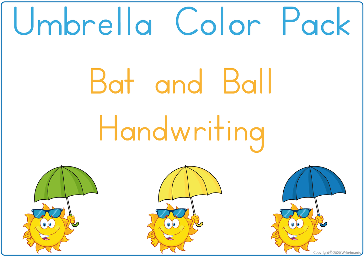 Busy Book Color Package using Umbrellas