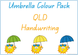 Busy Book Colour Pack for QLD Handwriting