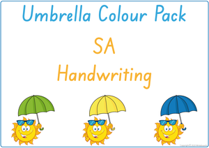 Busy Book Colour Pack for SA Beginner's Alphabet completed in SA Handwriting