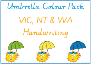 Learning Colours using Umbrellas - VIC, WA & NT Handwriting