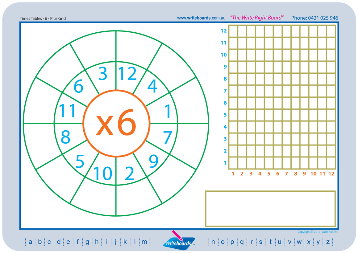 Maths worksheets using grids created by Writeboards