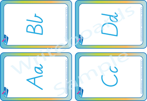 Free Alphabet Letter Flashcards come with Alphabet Busy Book for VIC - NT & WA Handwriting