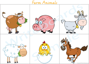 VIC / NT & WA Busy Book Farm Animals, Your child has to add the names