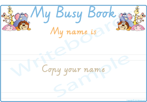 VIC / WA & NT Handwriting - Teach Your Child Their Name Busy Book