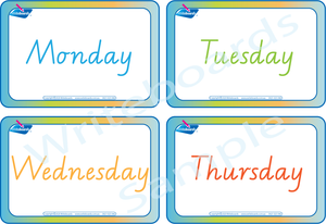 Free Days of the Week Flashcards for VIC /WA & NT come with our Busy Book