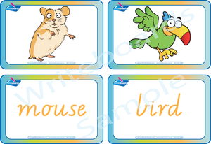 Free Flashcards come with our VIC / NT & WA Pet Animal Busy Book