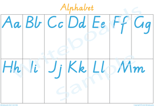 Busy Book Alphabet Pages for VIC/WA & NT Handwriting, Your Child has to add the Pictures