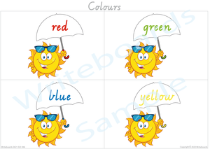 VIC/NT & WA Busy Book Colour Pack where your child has to add the Umbrella tops