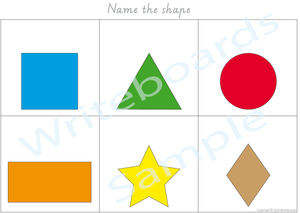 VIC/ NT & WA Busy Book Shapes Pack where your child has to add the names