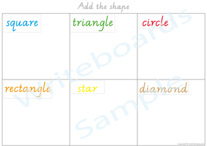 VIC/ NT & WA Busy Book Shapes Pack where your child has to add the images