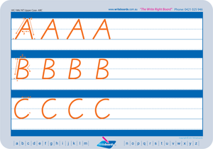 Free VIC Modern Cursive Font Alphabet worksheets, Free VIC and NT Handwriting Worksheets for Your Child