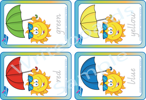 Free Colour Flashcards come with our VIC / NT & WA Colour Busy Book