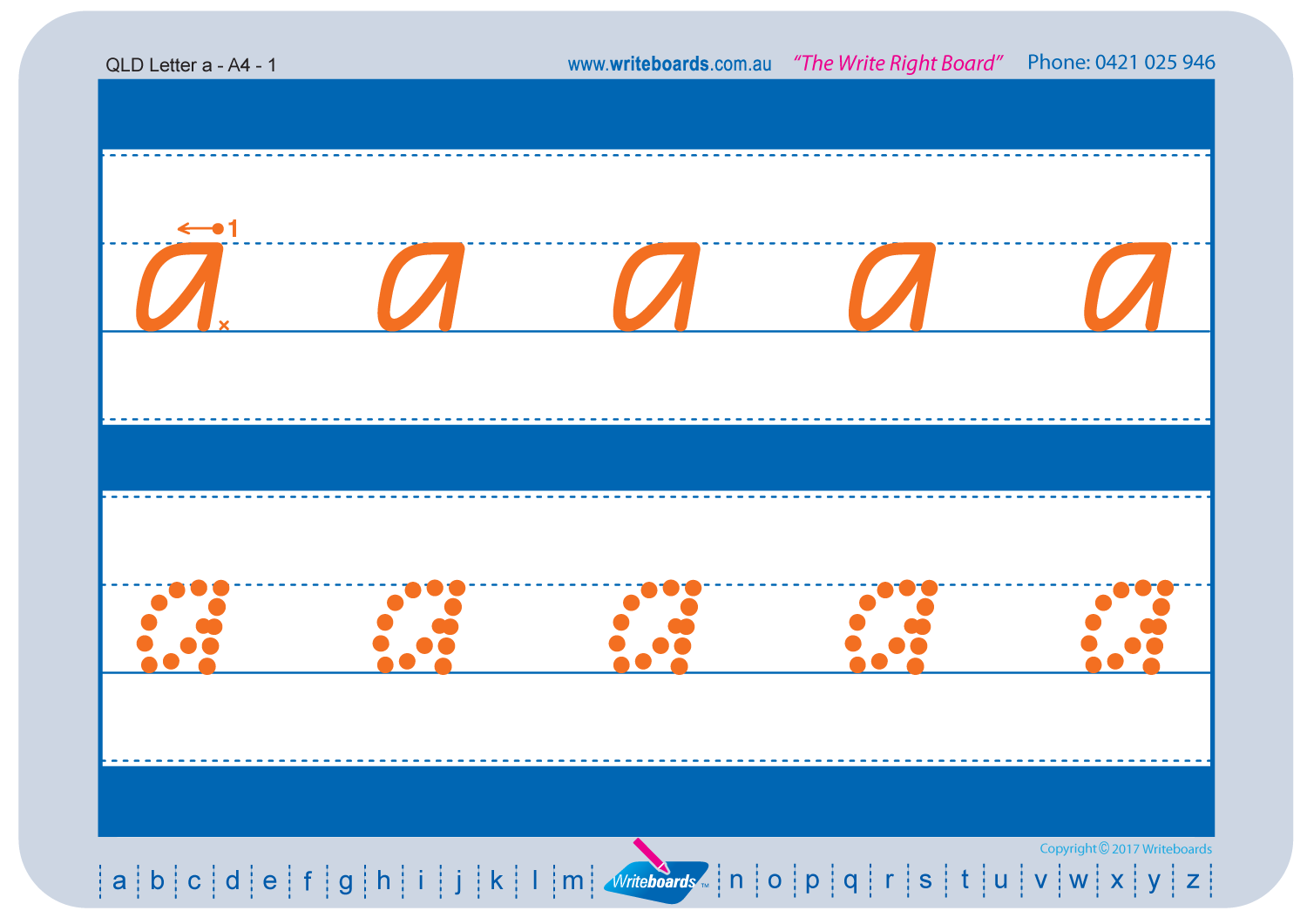 Worksheet Pack A - QLD Modern Cursive Font | Writeboards ...