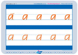 QCursive Prep Worksheets, QCursive Alphabet Worksheets