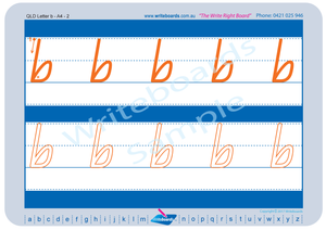 Special Needs QLD Modern Cursive Font alphabet and number handwriting worksheets