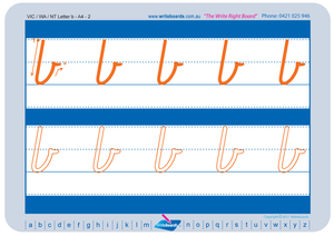 VIC Modern Cursive Font Lowercase Alphabet Tracing Worksheets for Occupational Therapists and Tutors