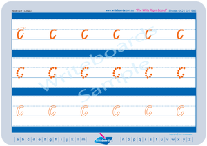 NSW Foundation Font Lowercase Alphabet Worksheets for Tutors and Occupational Therapists