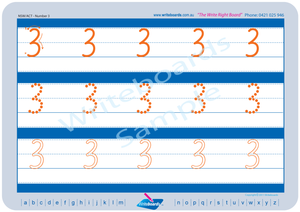 NSW Foundation Font Number Worksheets for Tutors and Occupational Therapists