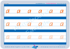 QCursive Alphabet Worksheets, QCursive Alphabet Tracing Worksheets