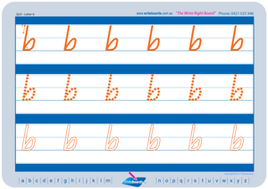 QLD Modern Cursive Font Lowercase Alphabet Worksheets for Tutors and Occupational Therapists