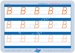QLD Modern Cursive Font Early Stage One Uppercase Alphabet Tracing Worksheets for Teachers