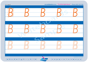 SA Modern Cursive Font Early Stage One Uppercase Alphabet Tracing Worksheets for Teachers