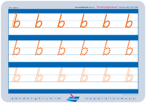 TAS Beginner Font alphabet and number handwriting worksheets, TAS tracing worksheets