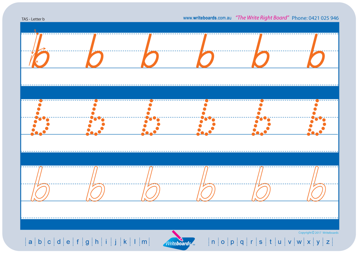 TAS Modern Cursive Font Lowercase Alphabet Worksheets for Tutors and Occupational Therapists