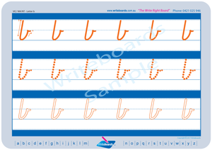 VIC Modern Cursive Font Early Stage One Lowercase Alphabet Tracing Worksheets for Teachers