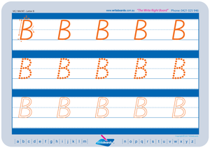 VIC Modern Cursive Font Early Stage One Uppercase Alphabet Tracing Worksheets for Teachers