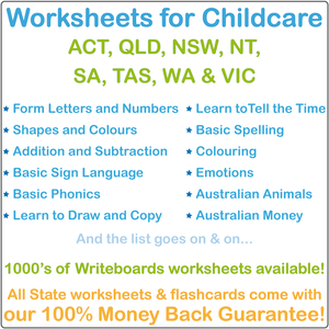 Childcare Worksheets, Preschool Worksheets, School Readiness Worksheets for Childcare, Childcare Resources, Worksheets and Flashcards for Childcare