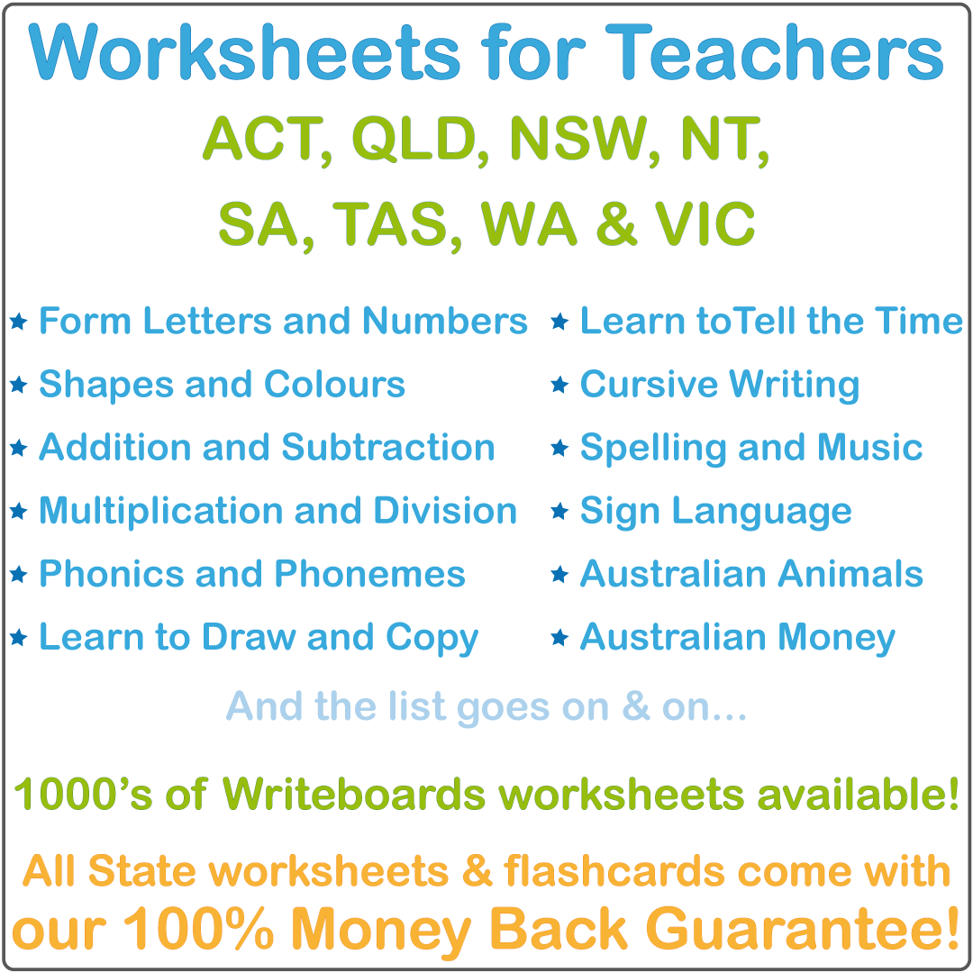 Teachers Australian Handwriting Worksheets, Teachers Literacy and Numeracy Resources, Teachers Classroom Resources, Australian Resources for Teachers