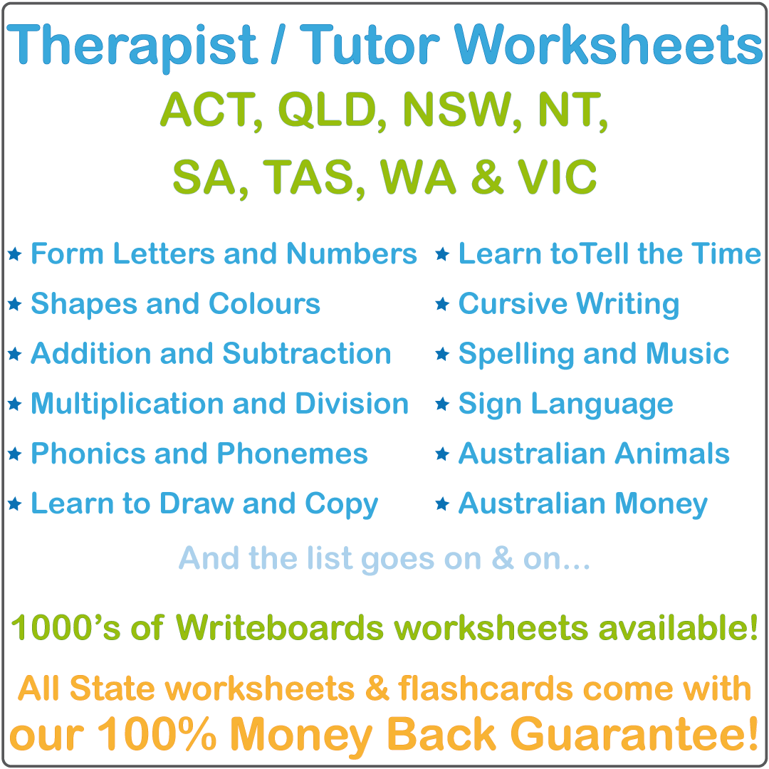 Worksheets for Occupational Therapists and Tutors