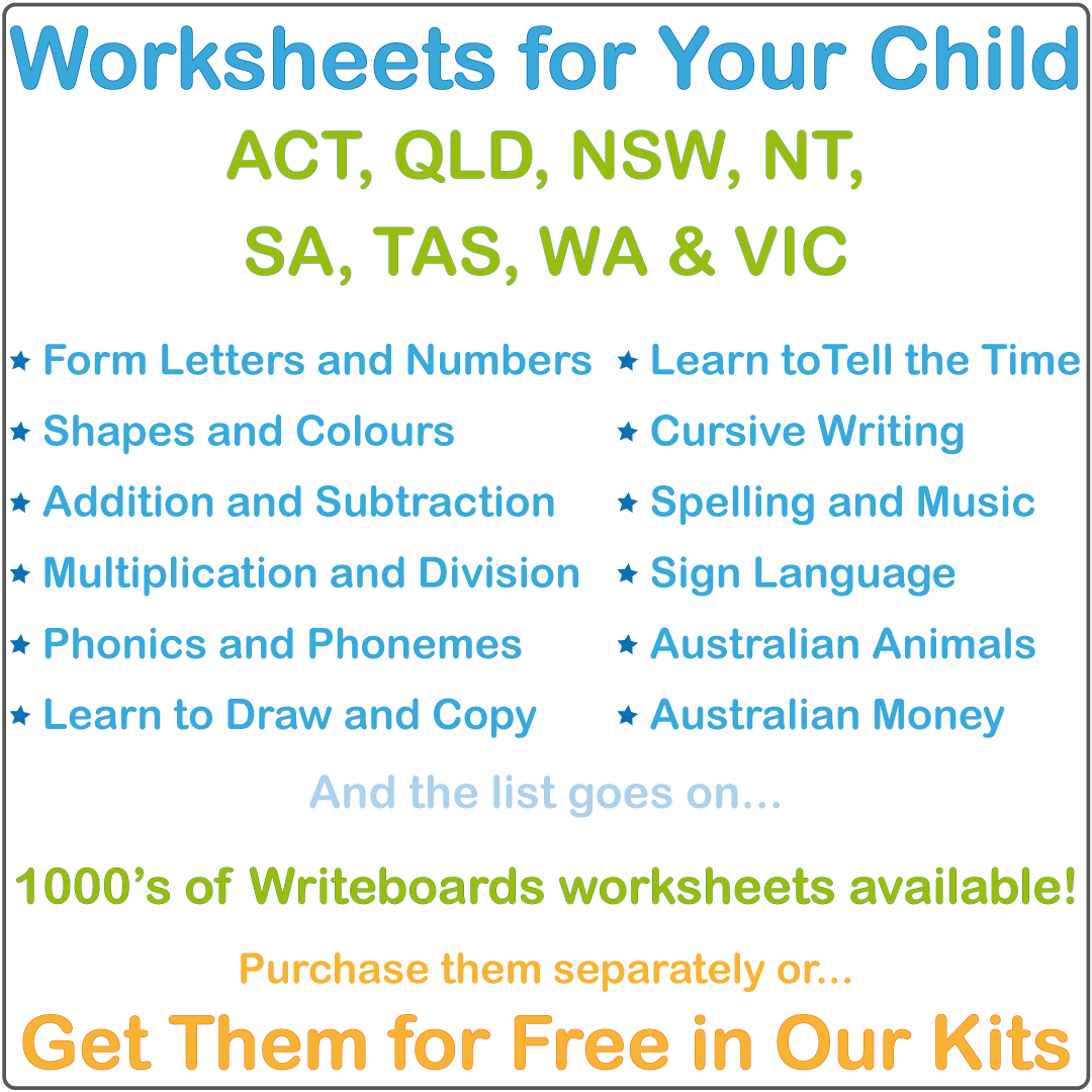 Special Needs Worksheets & Flashcards for Australian Children, Aussie Handwriting for Special Needs Kids