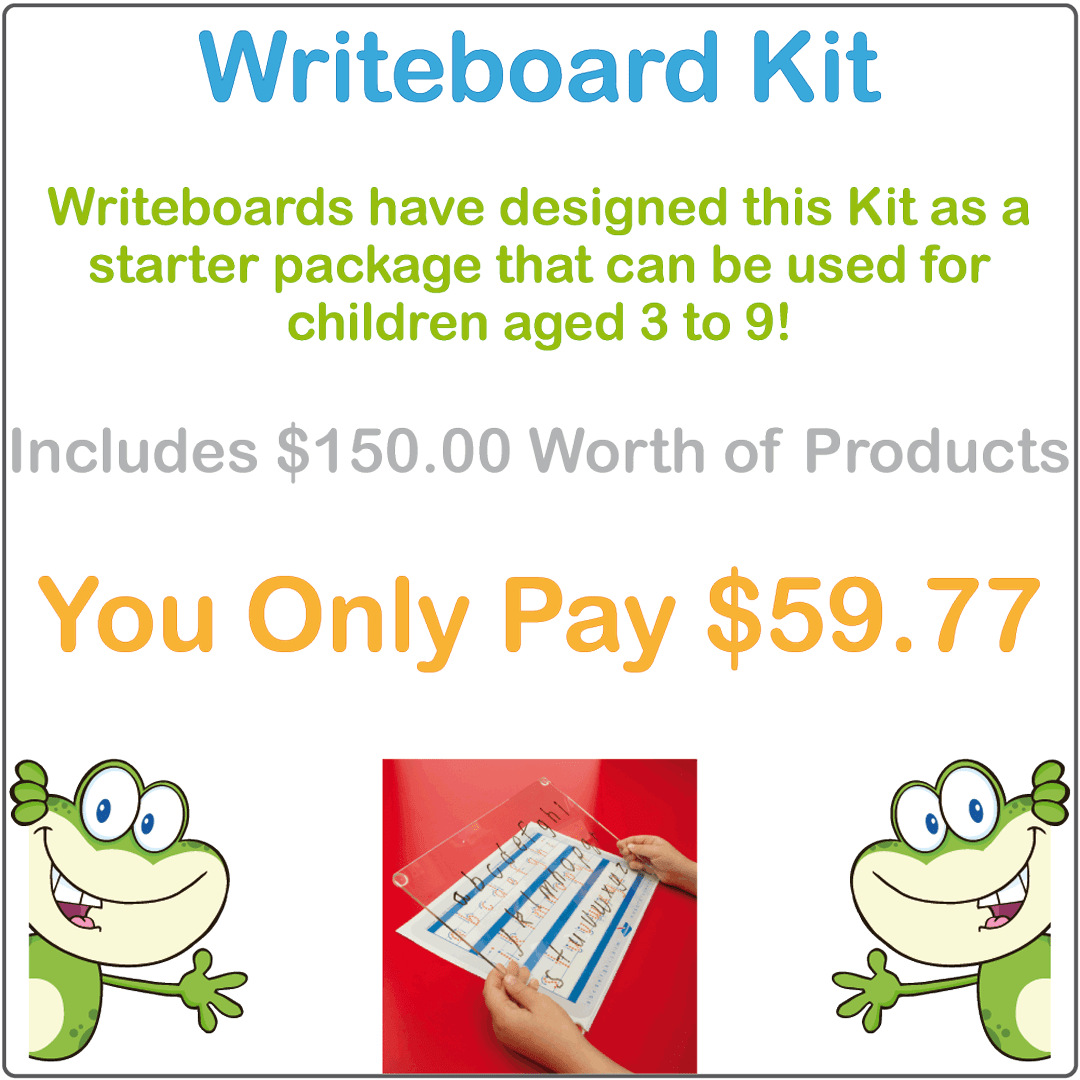 Writing board for Kids that comes with Free Worksheets and hundreds of Free worksheets and accessories
