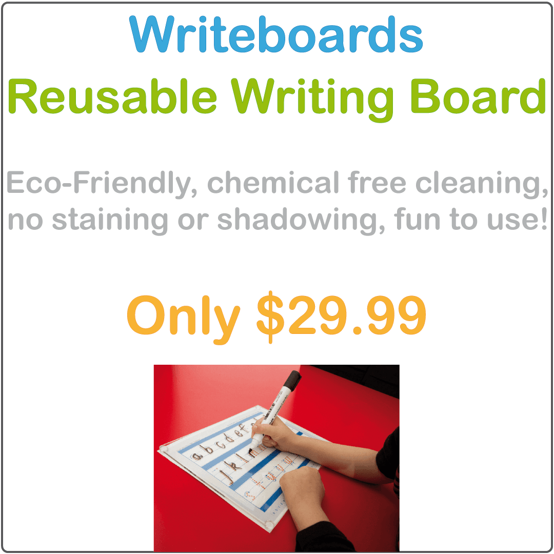 Childcare Writing Boards, Eco-friendly Chemical Free Writing Boards for Childcare and Preschools, Childcare Reusable Writing Boards