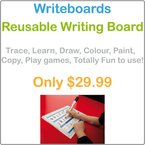 Educational Writing Board for Kids, Clear Reusable Writing Board for Kids, Eco-Friendly Writing Board for Kids