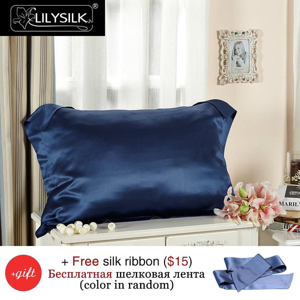 LILYSILK 100% Pure Mulberry Silk Pillow Case