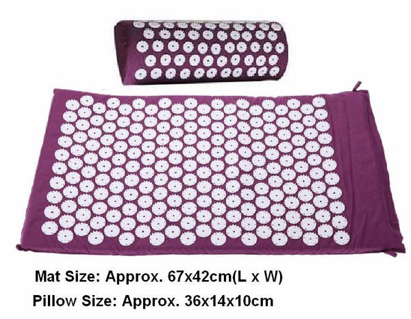 Acupressure Mat with Pillow Relieves Stress And Pain