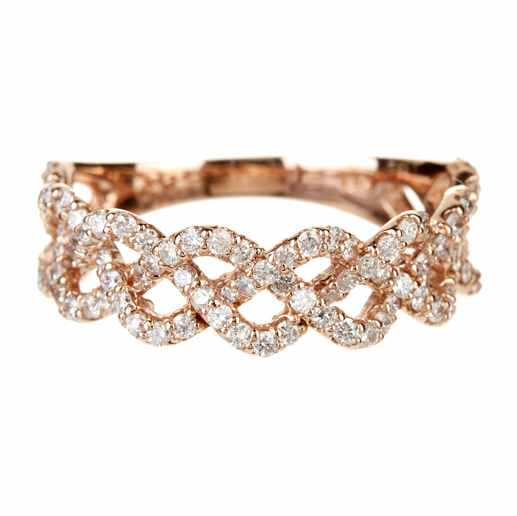JAE Jewelry Multi Diamond Rope Ring