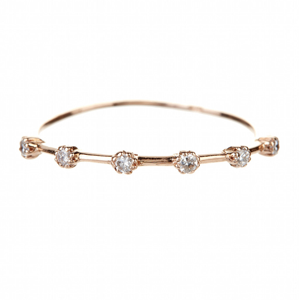 The Boho 6 Diamond Stackable Ring