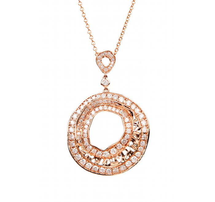 Jae Jewelry Round Diamond Necklace & Adjustable Pendant