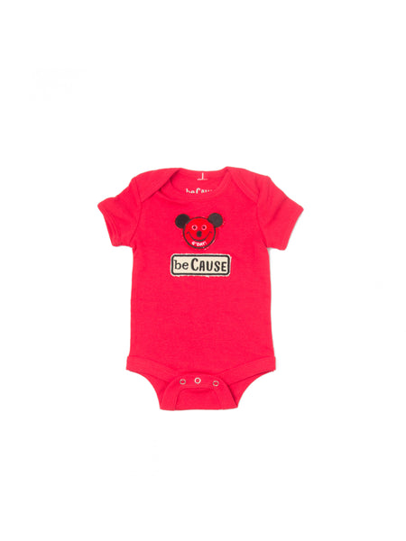 Mouse/beCause Onesie Red