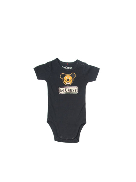 Mouse/beCause Onesie Black